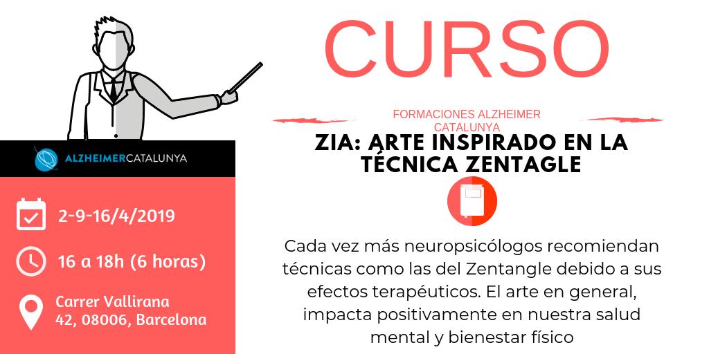 Curso 2019 | ZIA: arte inspirado en la técnica Zentagle | Alzheimer Catalunya Fundació